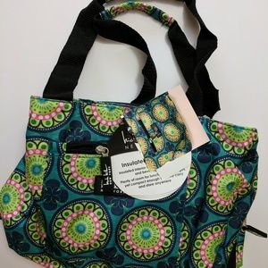 """Nicole Miller 11"""" Green Lunch Bag Tote"""
